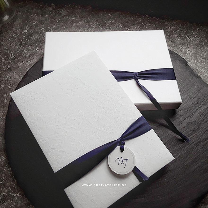 Hochzeitseinladung Hartcover mit Box