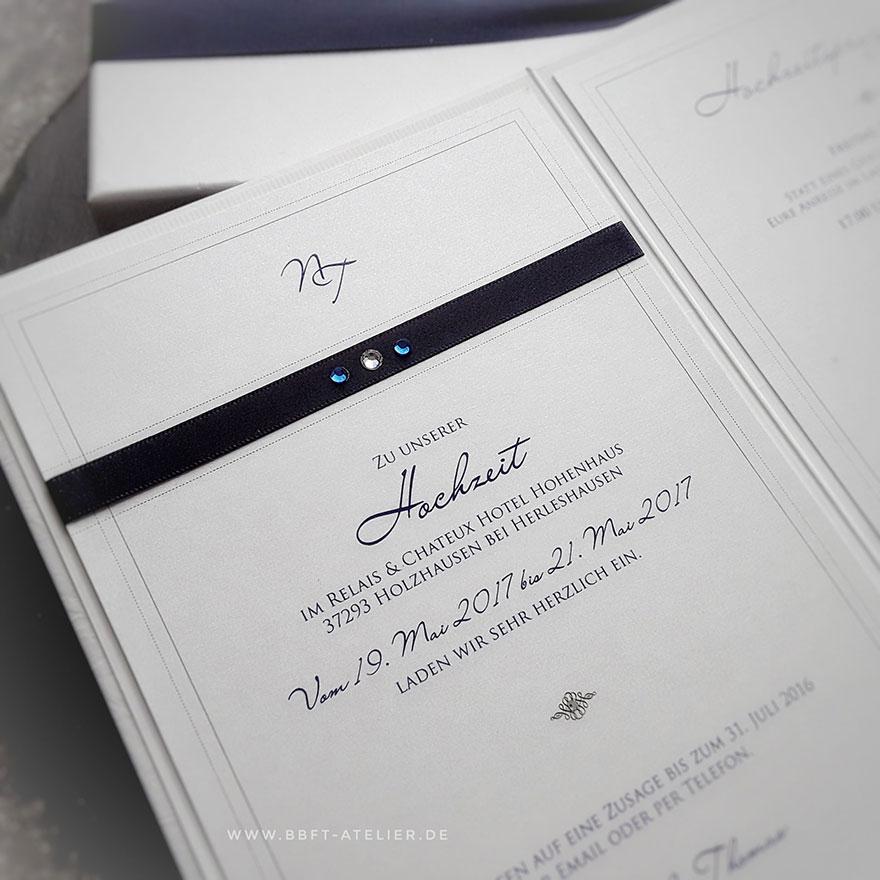 Hochzeitseinladung Innengestaltung I BBFT-Atelier