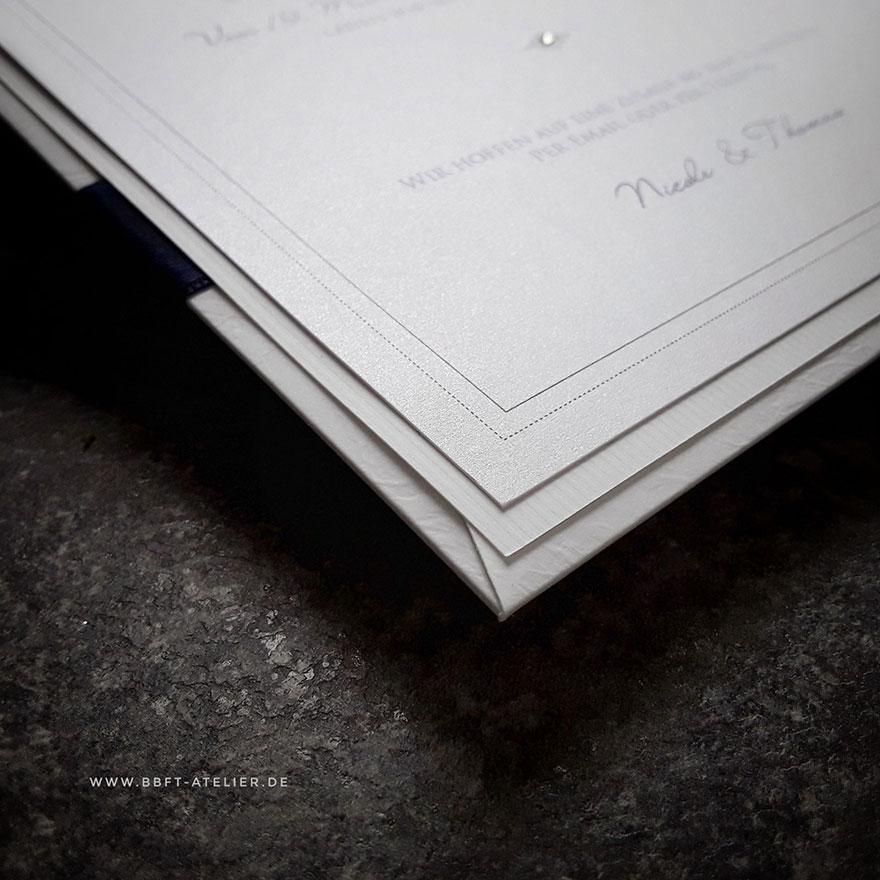 Hochzeitseinladung Detailaufnahme