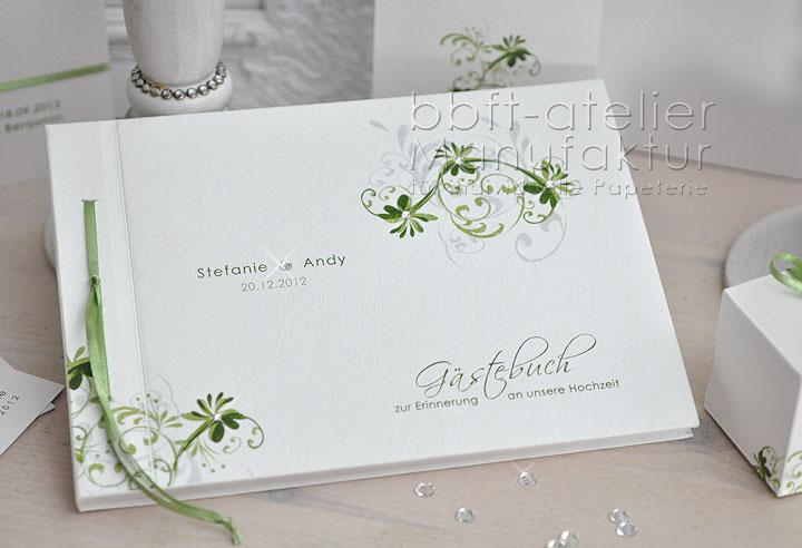 romantisches Hochzeitsgästebuch Blüten und