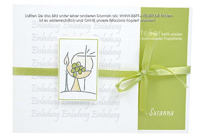 einladung kommunion 150 | einladung | kommunion | bbft-atelier, Einladungen