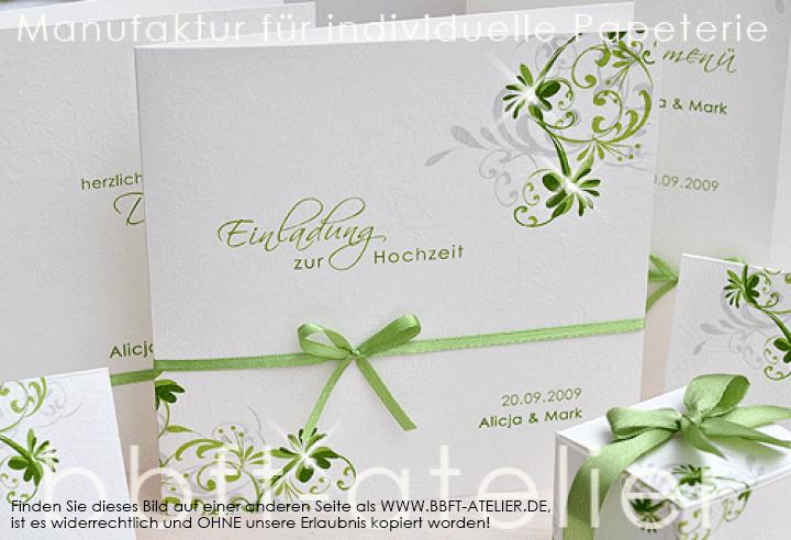 Eine Romantisch Verspielte Hochzeitseinladung Bbft Atelier