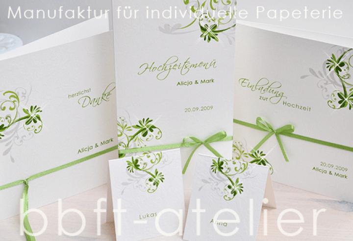 Eine romantisch verspielte Hochzeitseinladung  BBFT-Atelier