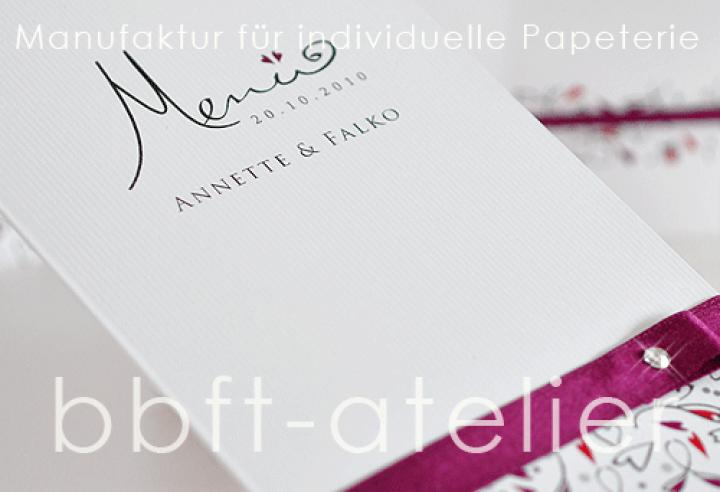 BBFT-Atelier  HOCHZEIT  Menü  Menükarte Hochzeit 021
