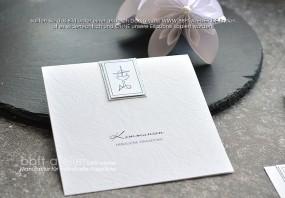 Kommunion Einladungskarte SilverDust