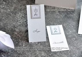 Kommunion Tischkarte SilverDust