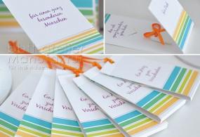 Geschenkkarte mit Herz, Liebesbotschaft