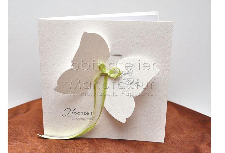 außergewöhliche Hochzeitseinladung Schmetterling